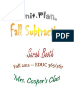 tws fall subtraction 1st grade