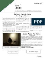 The Writers' Bloc Winter 2013
