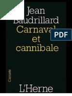 Baudrillard Carnaval Et Cannnibal