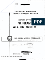 History of the Sergeant Weapon System