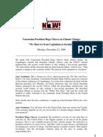 Democracy Now! - Venezuelan President Hugo Chávez on Climate Change  December 21, 2009