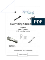 Dr. Roy's Everything Grammar Part I Answers