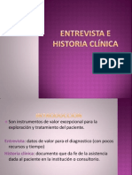 Entrevista e Historia Clinica