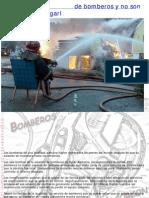 Se incendia estación de bomberos y no son capaces de apagarla