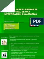 Tecnicas Para Elaborar El Informe Final de Una Investigacion Cualitativa