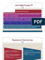 Payment of Service Tax & Returns