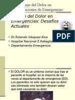 Manejo Del Dolor en Emergencias