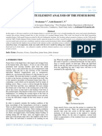 Non-linear 3d Finite Element Analysis of the Femur Bone