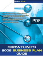 2006 Growthink Strategic Business Plan Guide