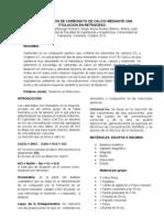 Determinacion de Carbonato de Calcio Mediante Una Titulacion en Retroceso