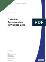 Cadmiun Accumulation in Waikato Soils TR2005-51
