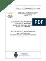Warta Kerajaan Daerah Mengundi 2013