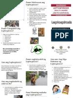 Leptospirosis brochure in Tagalog