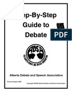 Step by Step Guide to Debate