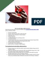 Kue Brownies Kukus Coklat Strawberry