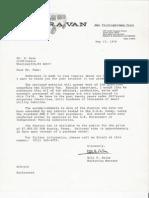 Electravan Letter
