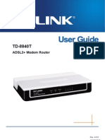 TD-8840T V4 User Guide