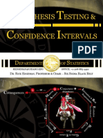 Statistics Hypothesis Testing & Confidence Intervals