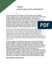 Predictability of behavior.doc