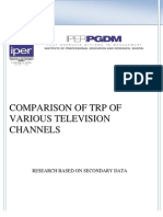 Comparison of Trp of Various Channels