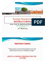 Strategic Management  - Restructuring