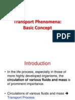 Transport Phenomena - Basic Concept