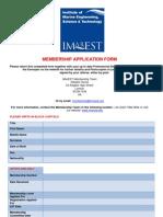 Membership Applicationform