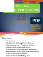 Testing of Web Applications Ppt