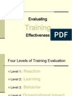 Evaluating Trainer Trainer Effectiveness