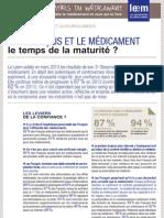 Les Essentiels - Les Français et le Médicament le temps de la maturité ?