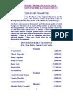 The Bovis Biometer Readings