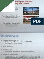 Rethinking Our Schools Using Web2 0 Tools