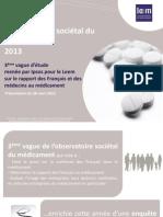 Slides - L'observatoire sociétal du médicament 2013
