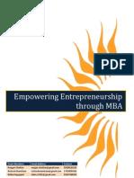 Empowering Entrepreneurship through MBA