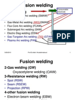 Welding Lecture 2 Fusion (Liquid) State Welding Processes ( ARC Welding)