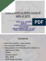 Indias Stand Wto Doha Round