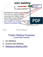 Welding Lecture 4 Fusion (Liquid) State Welding Processes ( Resistance Welding)