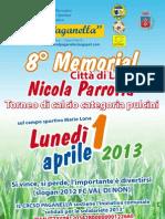 Lavis, ottavo Memorial Nicola Parrotta