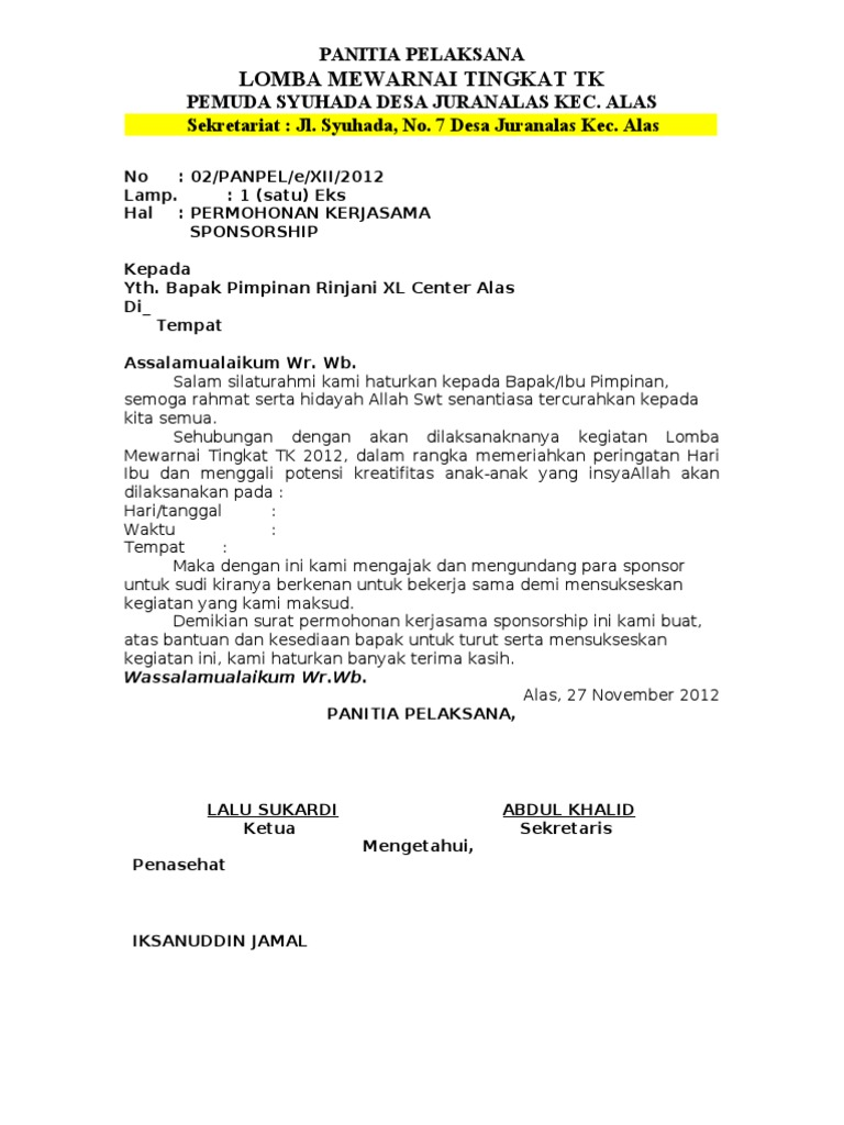 Proposal Lomba Mewarnai Rtf