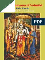Ramayana of Valmiki - V1 - BalaKanda