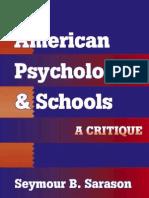 American Psychology & School (a Critique) Sarason