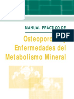 Osteoporosis y Enfermedades Del Metabolismo Mineral (Riancho)