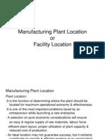 (5)Plant Location