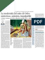 La modernità del mito di Orfeo, di Pietro Citati - Corriere della Sera 29.03.2013