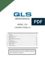 Chassis NX56E-LA Manual de Servicio