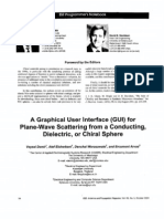 A Graphical User interface (GUI) for Plane-Wave Scattering from a Conducting, Dielectric, or Chiral Sphere