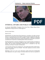 Internal Affairs and Public Corruption in Miami Beach