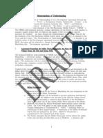 Draft Memorandum Understanding for Development Agreement for old Blacksburg Middle School