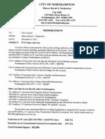 12-12-06 Memo From David Narkewicz - State Budget Cuts
