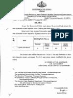 Treasury Fixed Deposit; Interest rates revised